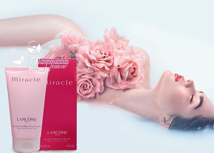 Sữa tắm hương nước hoa Lancome Miracle Bath and Shower Gel 150ml  4