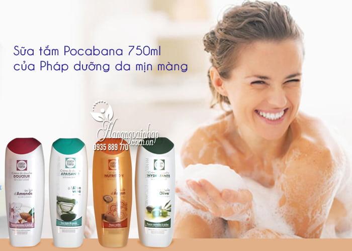Sữa tắm Pocabana 750ml của Pháp dưỡng da mịn màng 2
