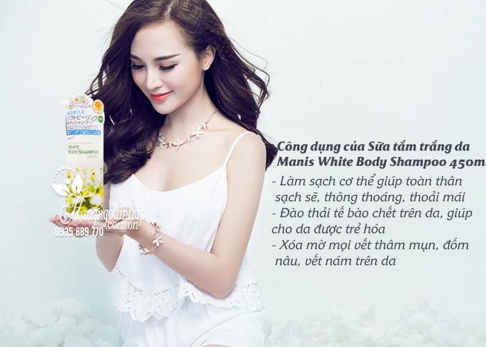 Sữa tắm trắng da Manis White Body Shampoo 450ml Nhật Bản 4