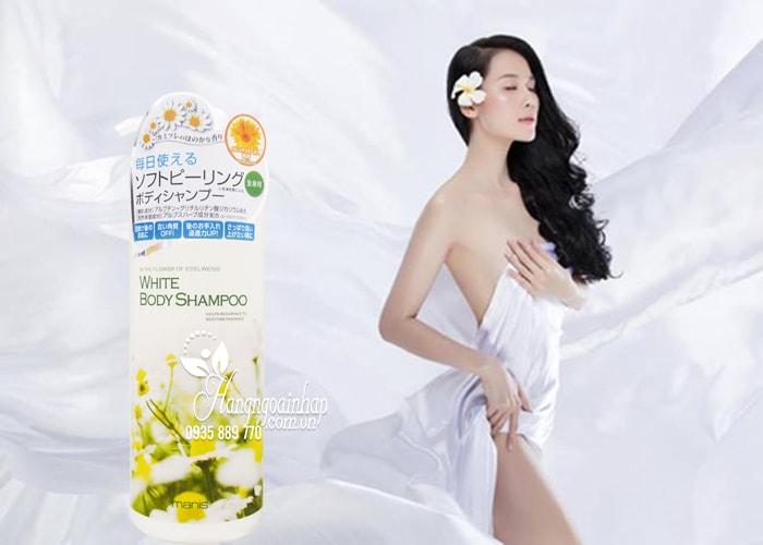 Sữa tắm trắng da Manis White Body Shampoo 450ml Nhật Bản 2