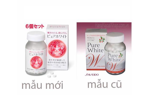 Kết quả hình ảnh cho Viên uống trắng da pure white Shiseido 270 viên