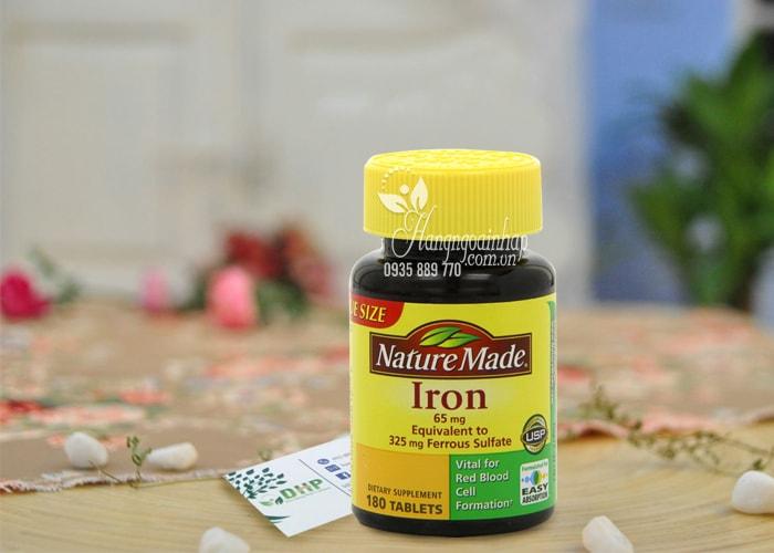 Viên uống bổ sung sắt Nature Made Iron 65mg 180 viên của Mỹ
