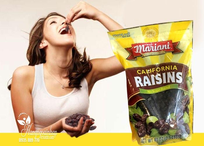 Nho khô Raisins Mariani California 1,13kg của Mỹ