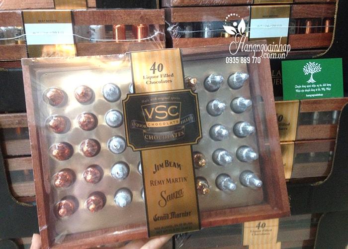 Socola nhân rượu hộp gỗ Jim Beam Remy Martin VSC 40 chai của Mỹ (4)