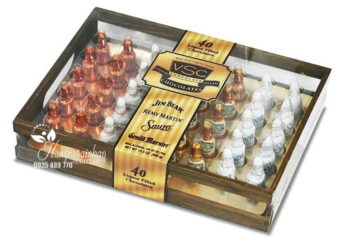 Socola nhân rượu hộp gỗ Jim Beam Remy Martin VSC 40 chai của Mỹ (2)