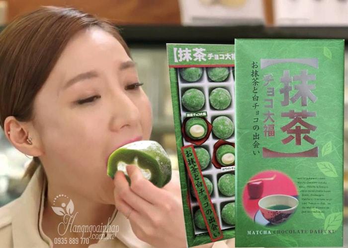 Bánh Mochi trà xanh Daifuku hộp 18 cái