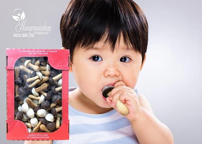 Bánh quy nấm socola trắng và đen