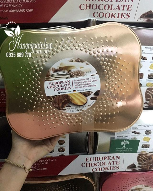 Bánh quy socola cao cấp European Chocolate Cookies 1400g của Đức