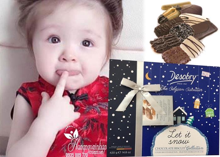 Bánh quy Socola cao cấp Desobry Let it Snow Bi