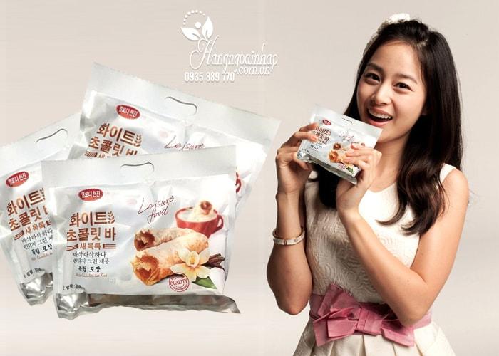 Bánh yến mạch phủ socola trắng Leisure Food 300g của Hàn