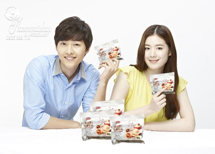 Bánh yến mạch phủ socola trắng Leisure Food 300g Hàn Quốc