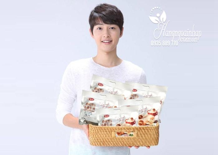 Bánh yến mạch phủ socola trắng Leisure Food của Hàn Quốc