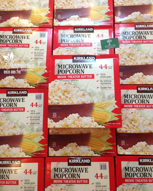 Bắp rang bơ Kirkland Signature Microwave Popcorn 4,1kg Mỹ