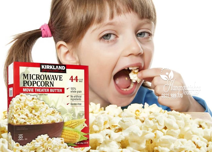 Bắp rang bơ Kirkland Signature Microwave Popcorn của Mỹ