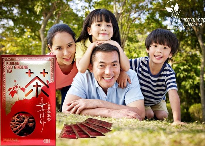 Bộ quà tặng hồng sâm Hàn Quốc, sâm lát, trà sâm, nước sâm