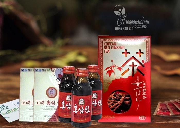 Bộ quà tặng cao cấp nhân sâm Hàn Quốc, sâm lát, trà sâm, nước sâm