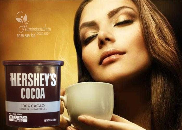 Bột cacao nguyên chất, không đường Hershey's Cocoa