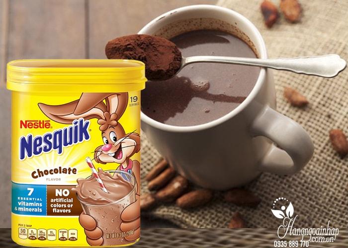 Bột cacao pha sữa Nestle Nesquik Chocolate 266g của Mỹ