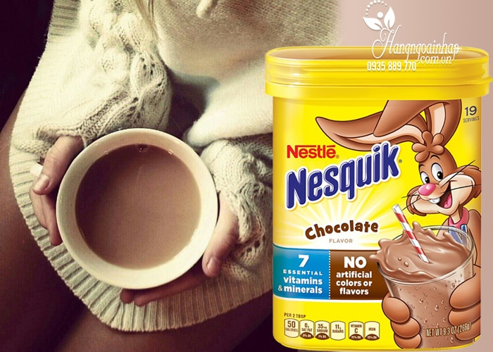Bột cacao sữa Nestle Nesquik Chocolate 266g