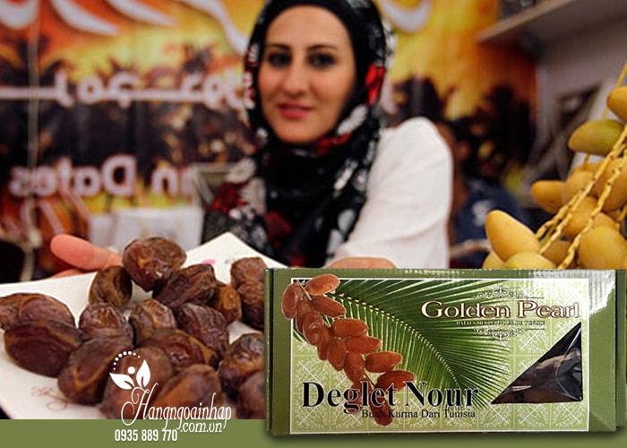 Chà là khô nguyên cành Golden Pearl Deglet Nour 500g của Tunisia