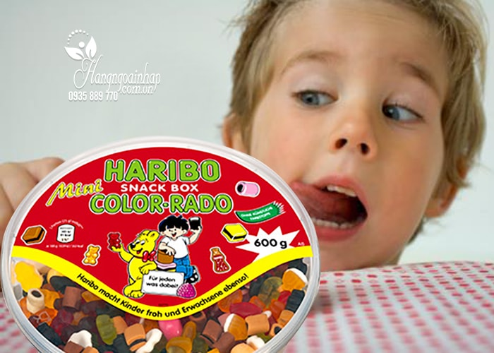 Kẹo dẻo Haribo Snack Box Color-Rado 600g