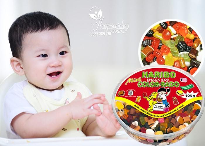Kẹo dẻo Haribo Snack Box Color-Rado 600g Đức