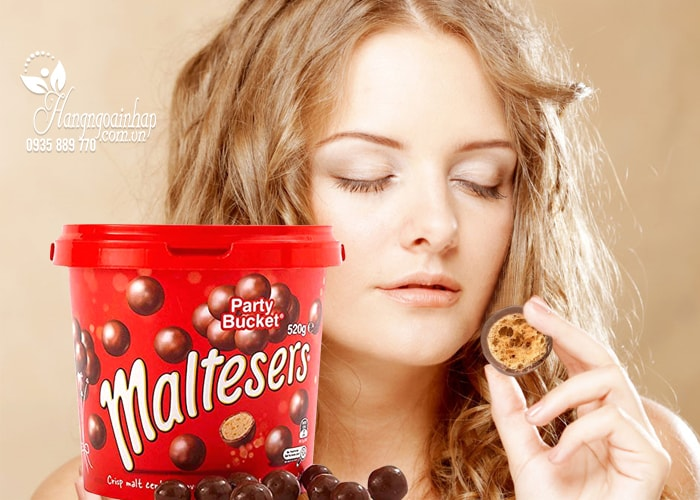 kẹo Socola Maltesers Party Bucket 520g của Mỹ