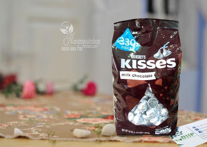 Kẹo Chocolate Hershey's Kisses Milk Chocolate Gói 1,58 Kg