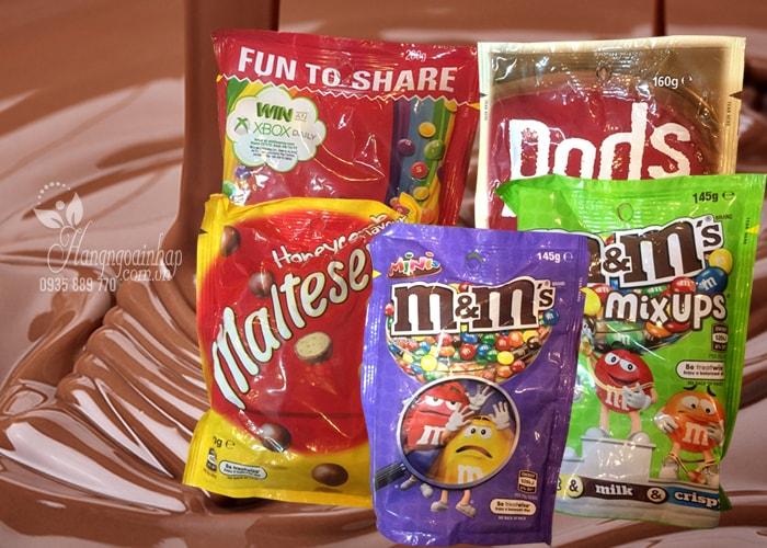 Kẹo socola Mỹ nhiều hương vị