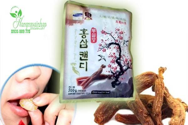 Kẹo sâm không đường Korean red ginseng candy sugar free 200g