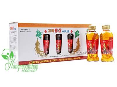 Nước hồng sâm có củ KGS Hàn Quốc 10 lọ x 120ml