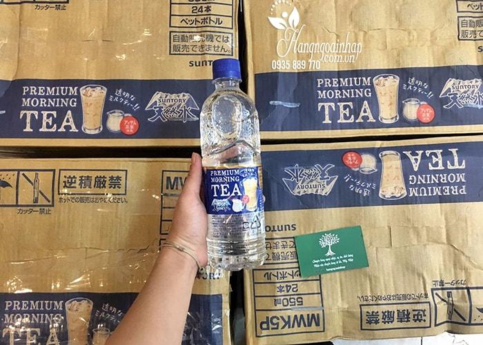 Nước lọc vị trà sữa Premium Morning Teal của Nhật Bản 550ml