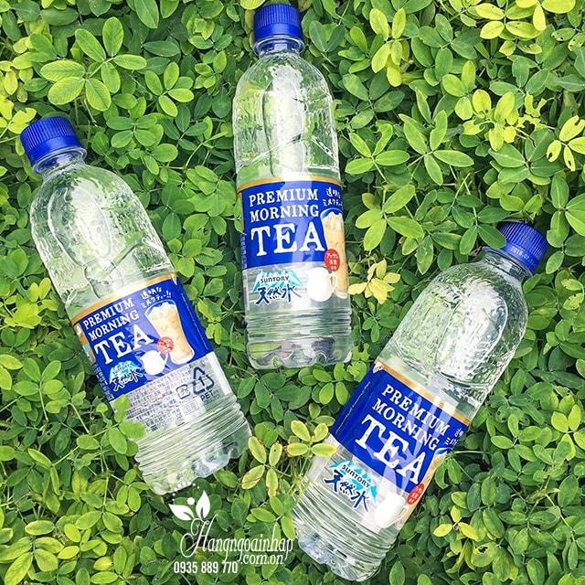 Nước lọc vị trà sữa Premium Morning Tea 550ml của Nhật Bản