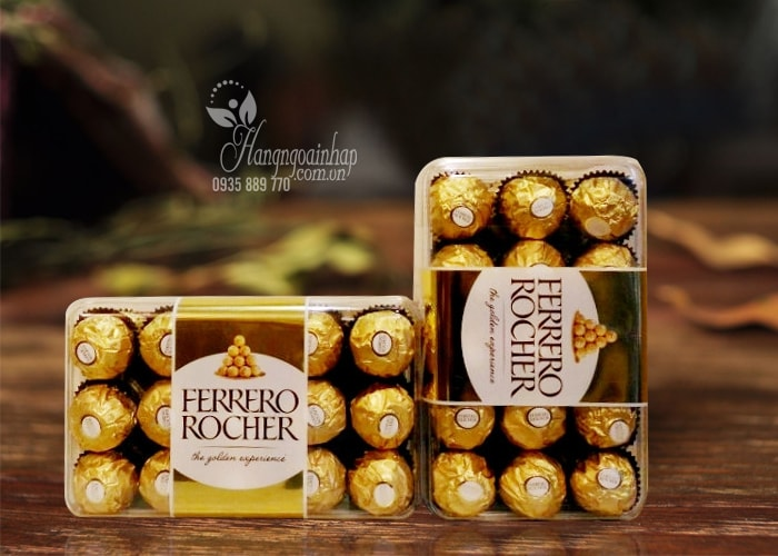 Socola Ferrero Rocher nhân hạt dẻ, hộp 30 viên của Ý