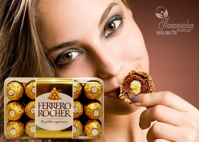 Socola Ferrero Rocher hộp 30 viên của Ý