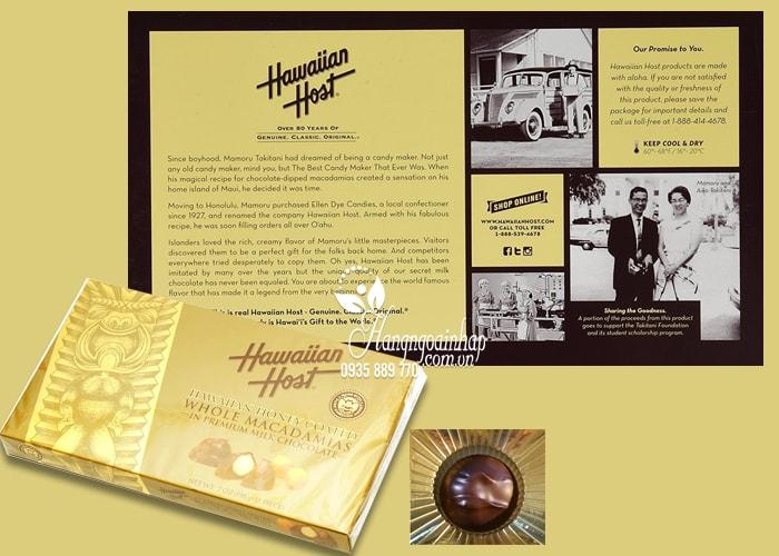 Socola Hawaiian Host Honey Coated nhân hạt Macca 15 viên của Mỹ