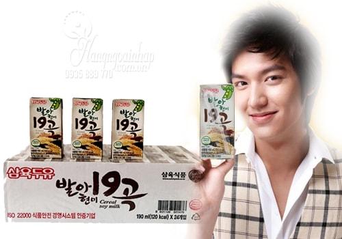 Sữa ngũ cốc 19 vị Sahmyook của Hàn Quốc thùng 24 hộp x 190ml