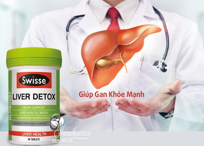 Viên uống bổ gan, thải độc Swisse Liver Detox 60 viên nhập khẩu từ Úc