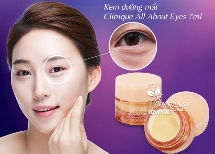 Kem dưỡng mắt Clinique All About Eyes 7ml - xua tan bọng mắt 3