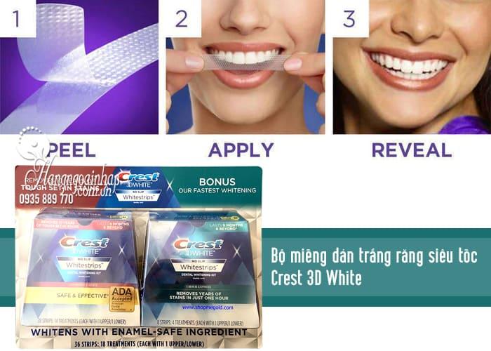 Bộ miếng dán trắng răng siêu tốc Crest 3D White của Mỹ 2