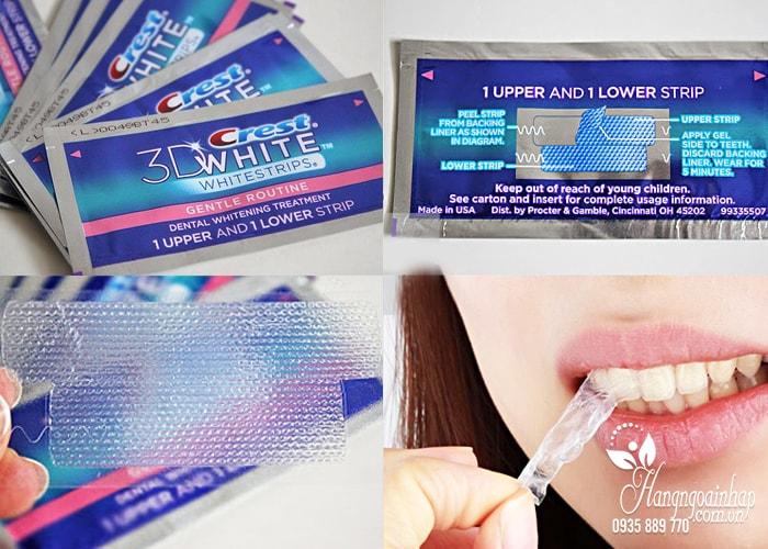 Bộ sản phẩm tẩy trắng răng Crest 3D White No Slip Whitestrips With Light của Mỹ