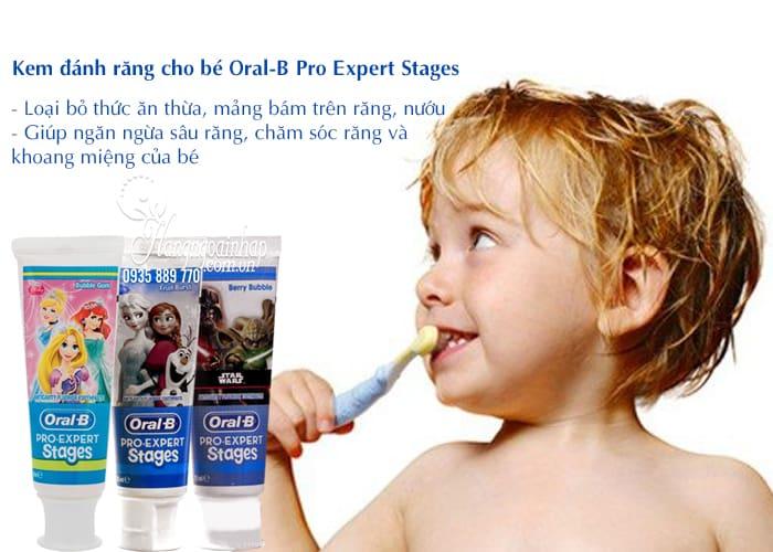 Kem đánh răng cho bé Oral-B Pro Expert Stages 75ml của Mỹ 4