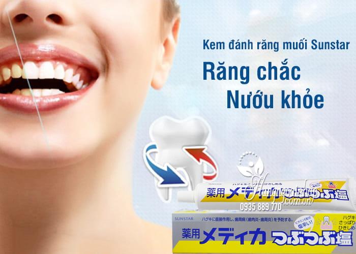 Kem đánh răng muối Sunstar 170g Nhật Bản - Bảo vệ nướu 4
