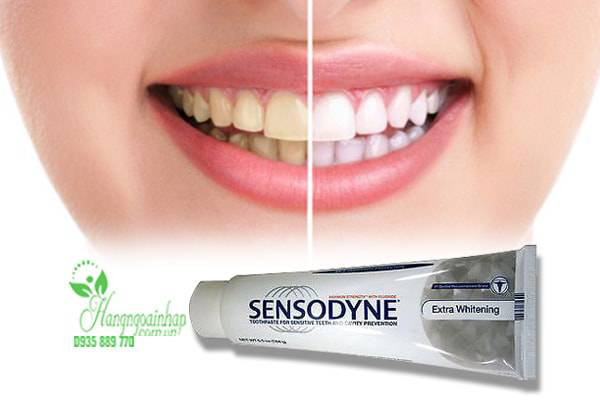 Kem đánh răng Sensodyne Extra Whitening dành cho răng ê buốt 184g