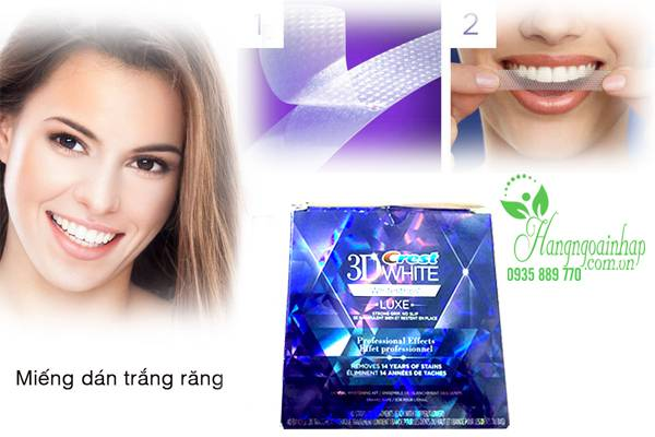 Miếng dán trắng răng Crest 3D White Professional Effects của Mỹ