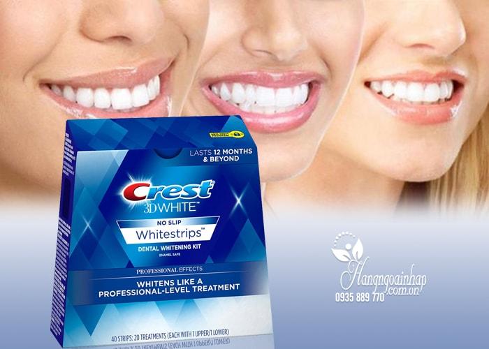 Miếng dán trắng răng cao cấp Crest 3D White No Slip 40 miếng