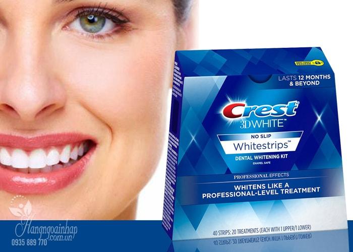 Miếng dán trắng răng Crest 3D White No Slip 40 miếng của Mỹ
