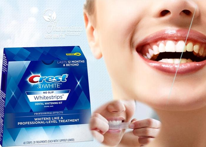 Miếng dán răng cao cấp Crest 3D White No Slip 40 miếng của Mỹ