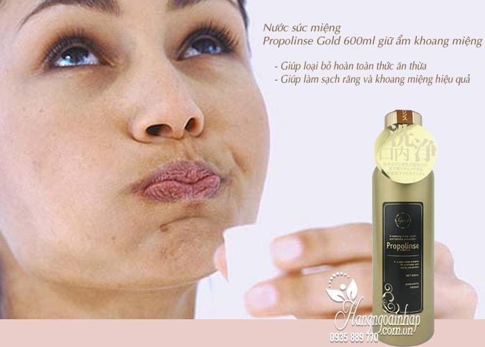 Nước súc miệng Propolinse Gold 600ml giữ ẩm khoang miệng 4