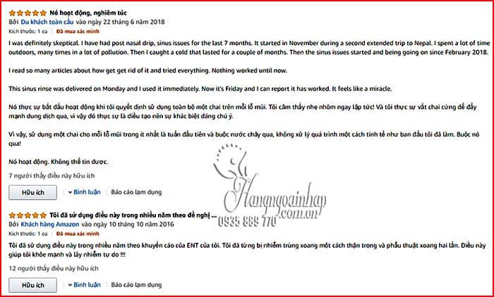 Bộ rửa mũi NeilMed Sinus Rinse bình 240ml + 50 gói muối Mỹ 5